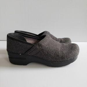 Dansko Gray Fabric Clogs Slip on Shoes 36